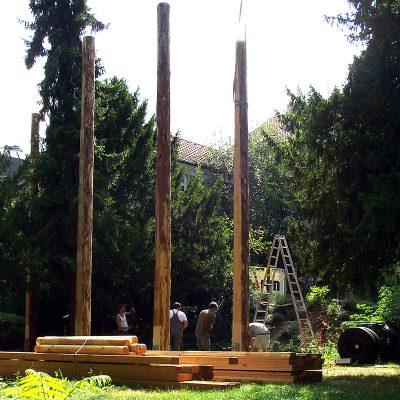 Aufbau eines Hochseilgartens